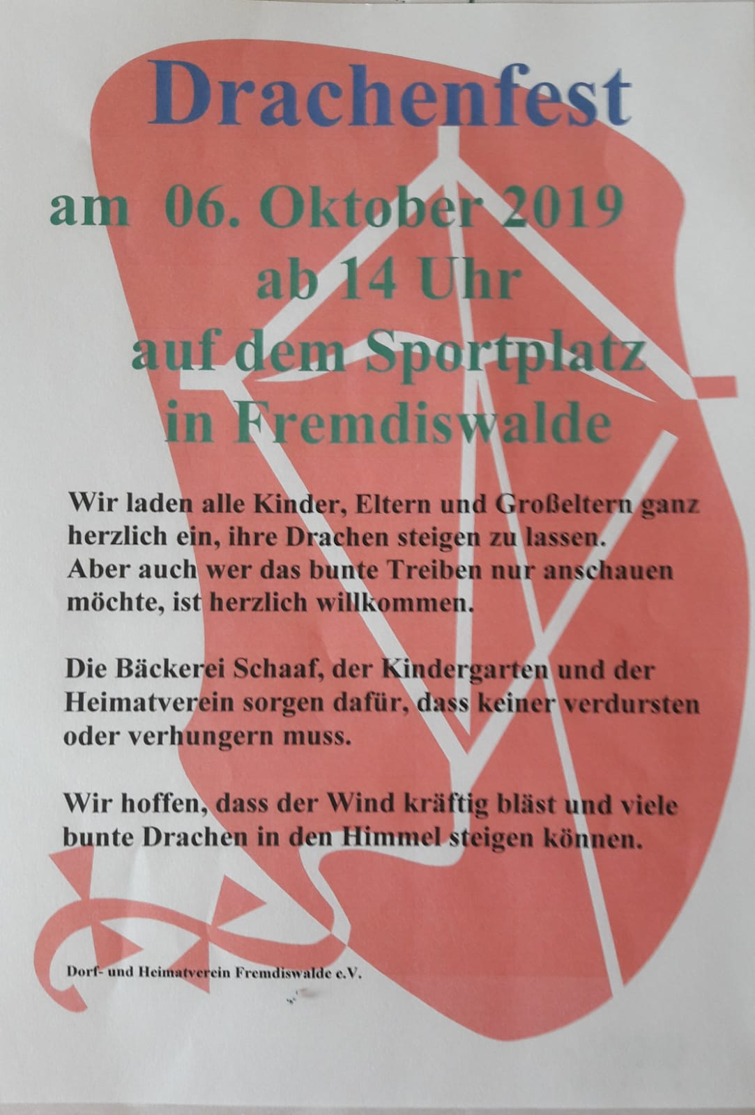 Drachenfest @ Sportplatz Fremdiswalde
