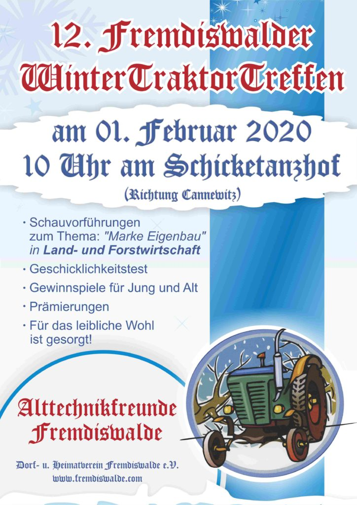 12. Fremdiswalder Wintertraktortreffen